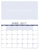 Newly Personalized April 2017 Calendar