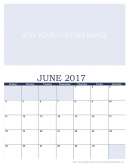 Newly Personalized June 2017 Calendar
