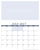 Newly Personalized July 2017 Calendar
