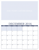 Newly Personalized December 2017 Calendar