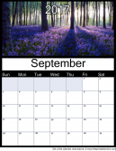 New September 2017 Printable Monthly Calendar