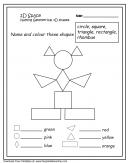 2D Shapes Kids Worksheets