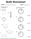 Symmetry and Time Worksheet