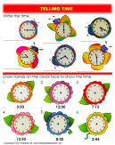 Flower and Bugs Telling Time Worksheet