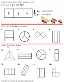 One Third Equal Parts Worksheet