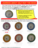 Half Past the Hour Worksheet