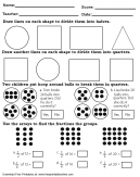 Quarter and Halves Math Worksheet