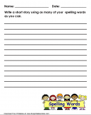 Writing a Short Story Worksheet