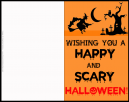 Happy and Scary Halloween Greeting Card