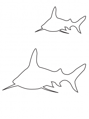It's just an image of Vibrant Printable Shark Template