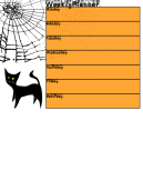 Halloween Themed Weekly Calendar