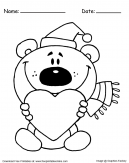 Teddy Bear Santa Christmas Coloring Pages