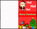 Ho Ho Ho Santa Claus  Christmas Card