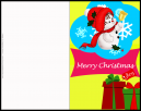 Cute Snowman Christmas Greeting Card