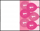 Pink Balloons  Birthday Party Invitations