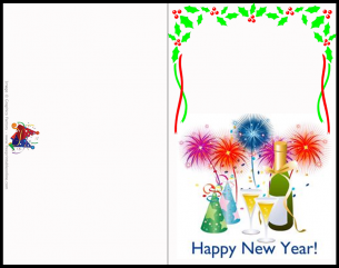 Free Printable New Years Cards