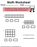 Factors of 12 Worksheet