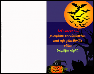 Halloween Pumpkins Invitation Party