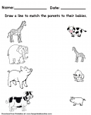 Animals Matching Worksheet