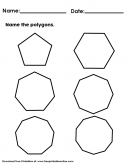 Name the Polygon Worksheet