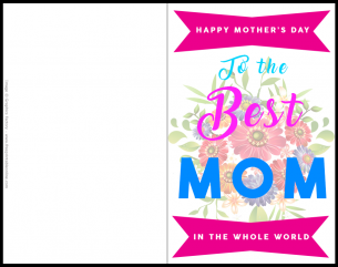 To the Best Mom Mother's Day Card