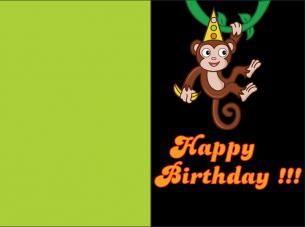 Monkey Business Birthday Cards