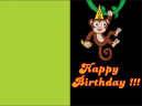 Monkey Business Birthday Cards