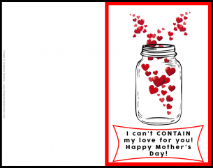 Contain Mother's Day Card