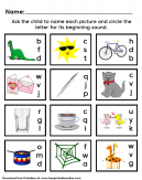 Sounds and Picture Kids Worksheet