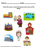 Noun Place and Things Worksheet