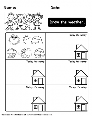 Draw the Weather Worksheet