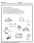Step by Step Draw and Color Worksheet