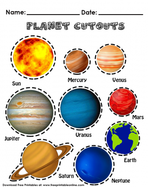 photo regarding Printable Solar System Pictures called World Cutouts