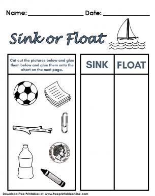 sink or float worksheet. Black Bedroom Furniture Sets. Home Design Ideas