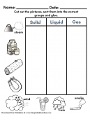 States of Matter Kids Worksheet