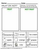 Fruit or Not Kids Worksheet