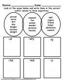 Suffix Kids Worksheet