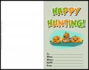 Happy Hunting Halloween Invitation Card