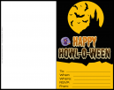 Happy Howl O Ween Invitation Card