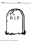 Halloween Headstone Coloring Pages