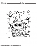Owl Halloween Coloring Pages