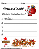 Santa Claus Draw and Write Worksheet
