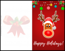 Christmas Red Nosed Reindeer Happy Holidays Christmas Card