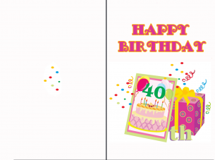 40th birthday cards bookmarktalkfo Image collections