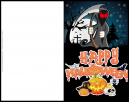 Grim Reaper Happy Halloween Fun Greeting Card