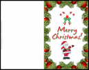 Candy Cane Inspired - Merry Christmas! - Xmas Card with bon bon's and Holly around the edges