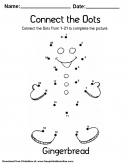 Gingerbread Connect the Dots
