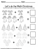 Let's Do the Math - Christmas Math Worksheet - Count the total number of images and write your answer in the box provided.