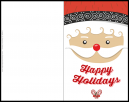 Happy Santa Christmas Greeting Card