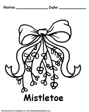 picture about Printable Mistletoe known as Mistletoe Xmas Coloring Website page